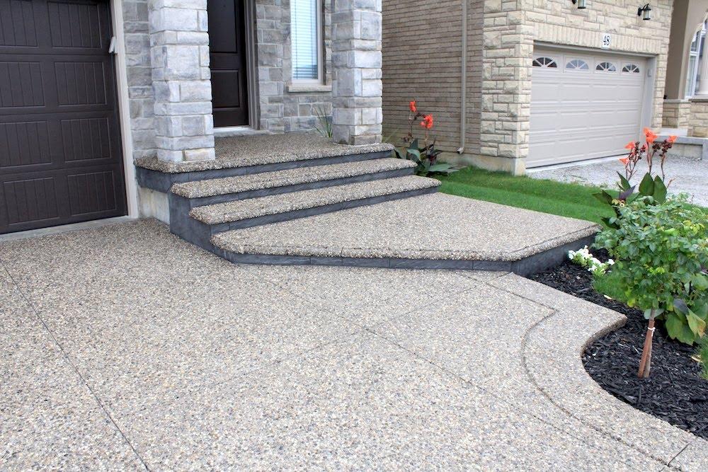 aggregate walkway grooveborder